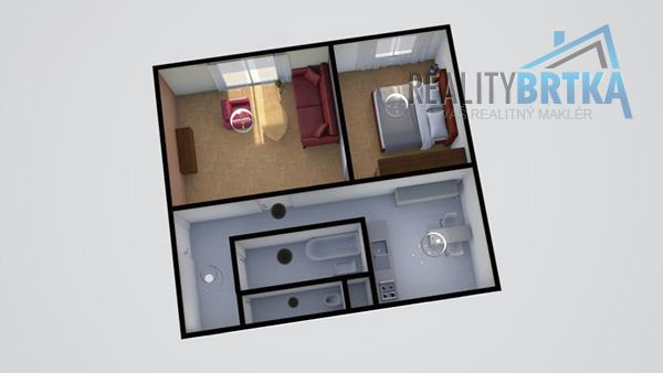 Na prenájom 2 izbový byt Nitra - Centrum mesta